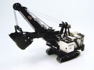 P&H Seilbagger 4100XPB mit Kohlenschaufel, weiß-schwarz