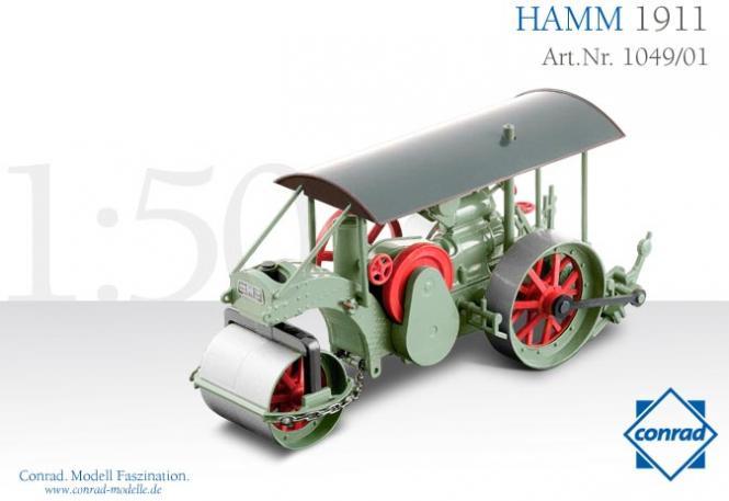 HAMM Dreiradwalze, Baujahr 1911