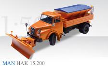 MAN Hauber HAK 15.200 mit Schneepflug und Streuaufbau