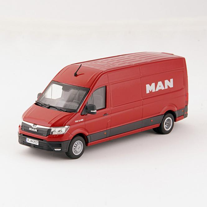 MAN TGE 5.180 Transporter Kasten, rot