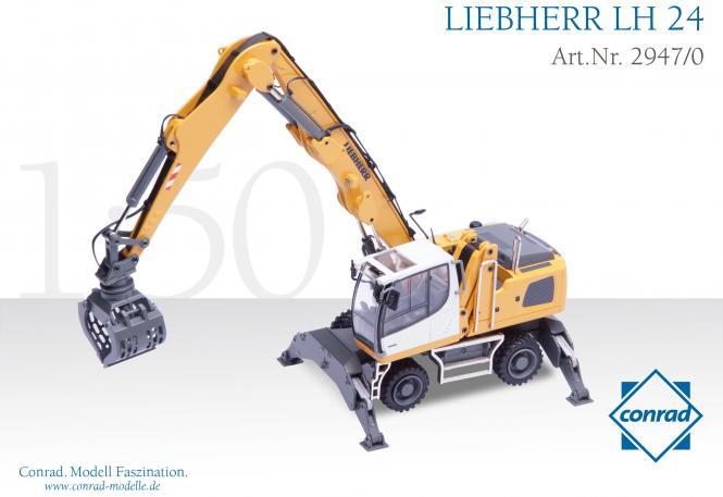 LIEBHERR Umschlagmaschine LH24 mit Sortiergreifer