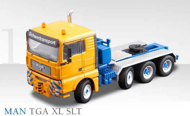 MAN TG-A 4axle Heavy Haulage truck, blue