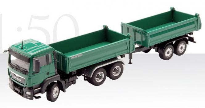 MAN TGS 3-side Tipper with MEILLER tandem tipper trailer