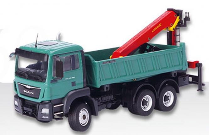 MAN TGS M 6x6 allwheeldrive tipper with PALFINGER crane loader