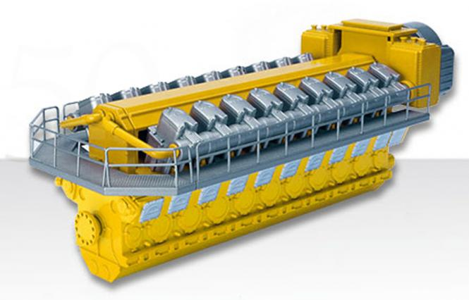MAN Diesel-Motor Typ 48/60N 18 Zylinder