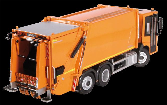 MB Econic Abfallsammelfahrzeug mit FAUN Variopress, orange