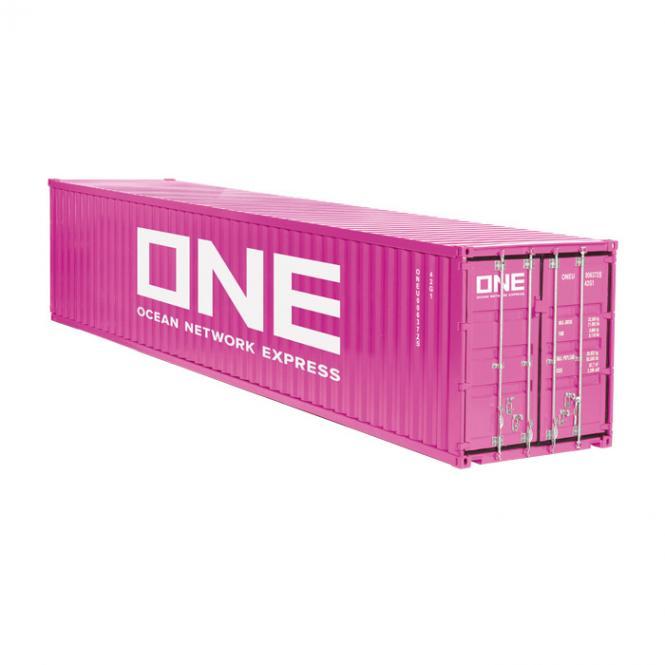 """40 Fuß Container """"ONE"""", magenta"""