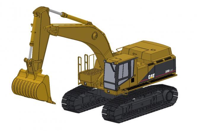 CAT Excavator 350LME with Rock Bucket