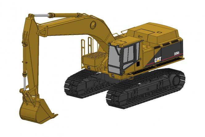 CAT Excavator 350L with two buckets