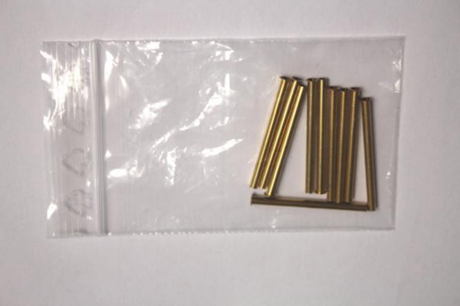 10 Rohrnieten A3 x 0,25 x 41,0 mm, blank, Messing, DIN7340