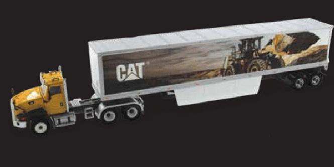 CAT 3achs CT660 mit 2achs Kofferauflieger