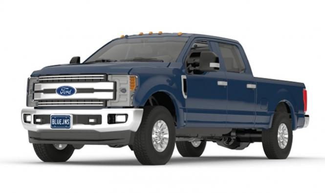 FORD F-250 Super Duty Pickup, blue jeans