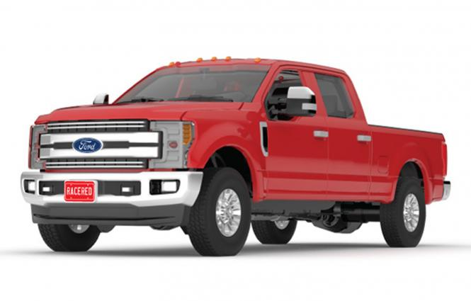 FORD F-250 Super Duty Pickup, rot