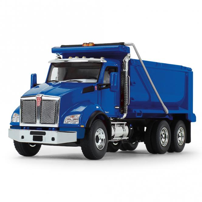 KENWORTH T880 3achs Kipper, blau