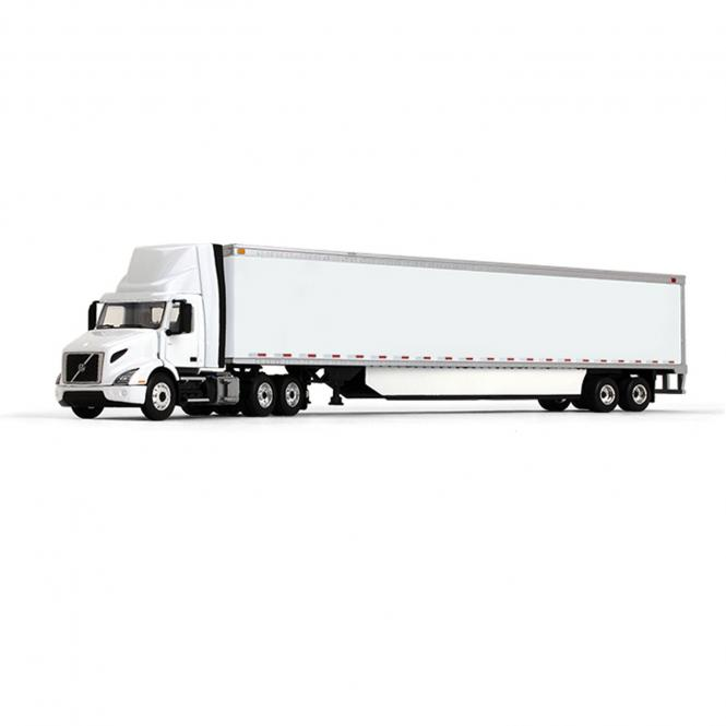 VOLVO VNR300 Day-Cab with 53? BoxTrailer and Side Skirts, white/white