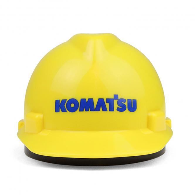 """Spardose: Plastik Helm """"Komatsu"""""""