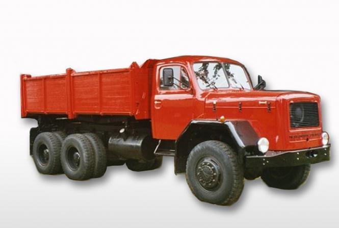 MAGIRUS DEUTZ 3achs Dreiseitenkipper D230 mit Holzbracken, rot