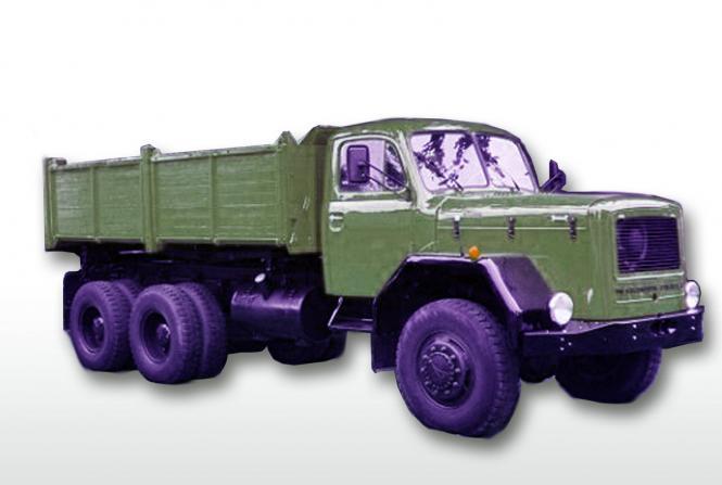 MAGIRUS DEUTZ 3achs Dreiseitenkipper D230 mit Holzbracken