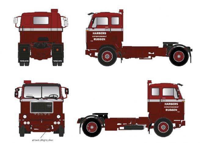 """VOLVO F 88 38 TZ Solo Truck """"Harbers"""""""