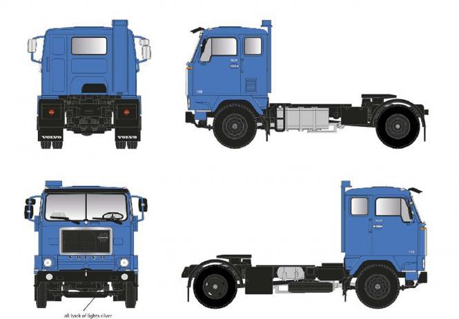 VOLVO F 88 - 38 TZ 2achs Zugmaschine, blau