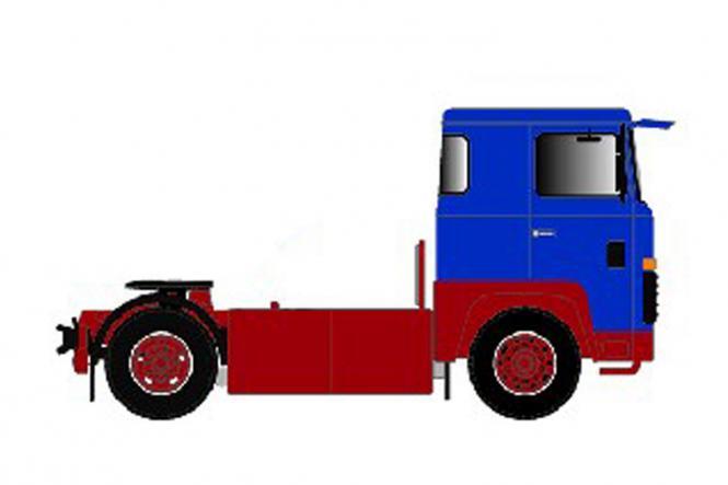 SCANIA S0 4x2 Solomaschine, blau/rot