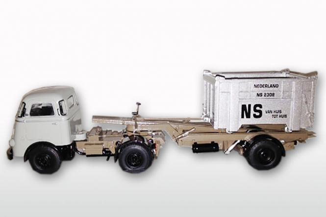 DAF T1300 DA met DAF Container LOSSER niedrig, Dustex