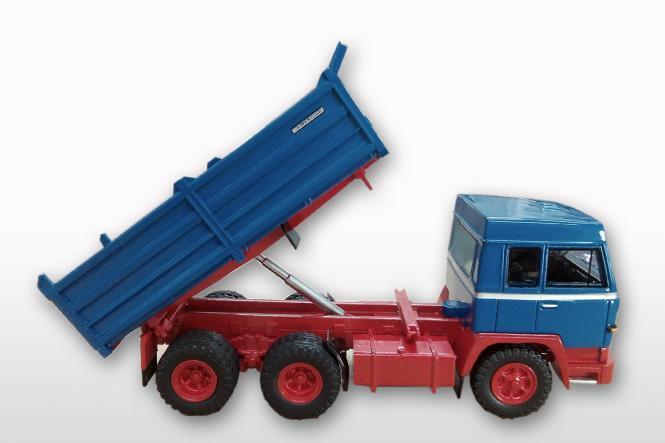 BÜSSING 3-achs Kipper BS26K, blau/rot