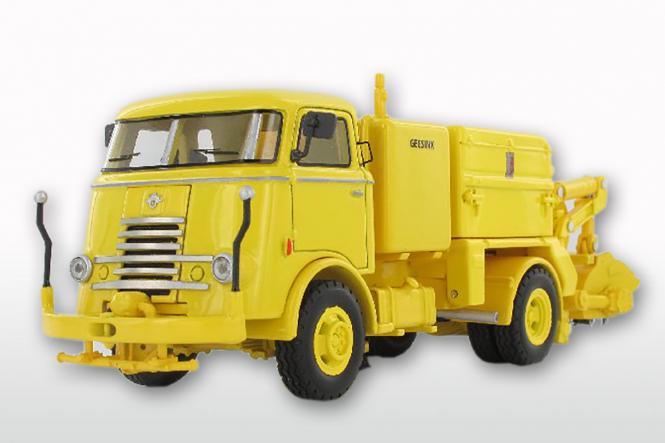 DAF T1300 DA265 mit GEESINK Kehraufbau ( mit 6 Rippenkühler), gelb