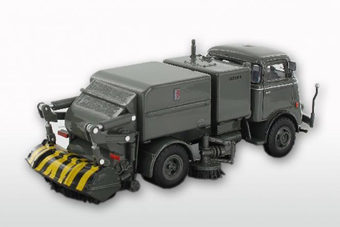 DAF T1300 DA265 mit GEESINK Kehraufbau ( mit Trapezfront), grau