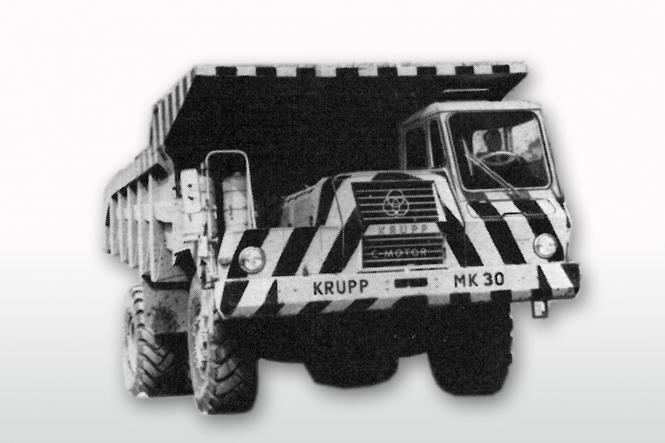 KRUPP MK 30 Muldenkipper, gelb