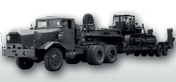 FAUN LS12/SA mit 25to BLUMHARDT Tiefladeraufliegr
