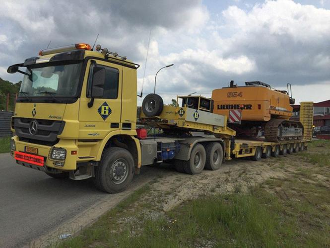 """MB Actros MP3 L mit BROSHUIS 7achs Tieflader SL100 Tonner """"Giorgetti"""""""