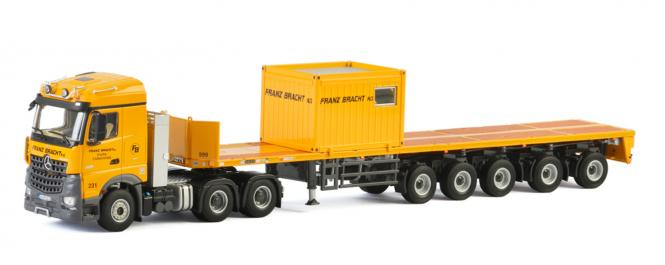 "MB Arocs MP4 Streamspace + 5axle Ballast Trailer + 10ft Container ""Franz Bracht KG"""