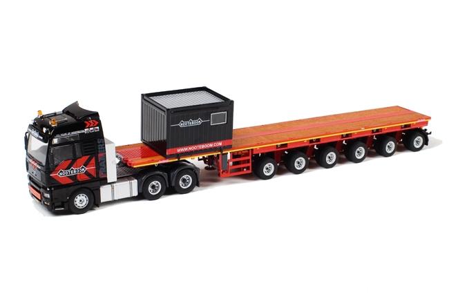 MAN TGA mit 6achs Nooteboom Balasttrailer + Box