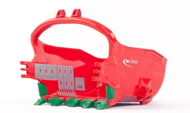 ESCO 155 Cubic Yard Profil Dragline Schaufel, rot