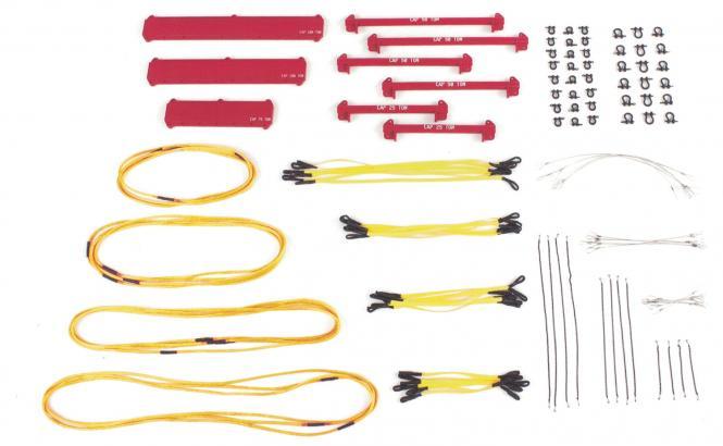 Hebeset mit Auslegerbalken Schlingen Schäkel 121 Teile, gelb