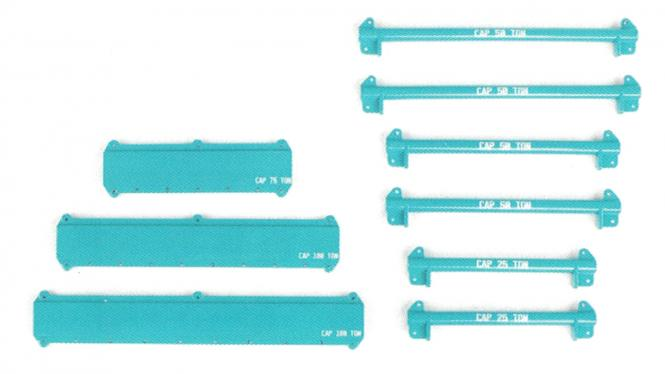 Hebeset mit Auslegerbalken Schlingen Schäkel 121 Teile, KB blau