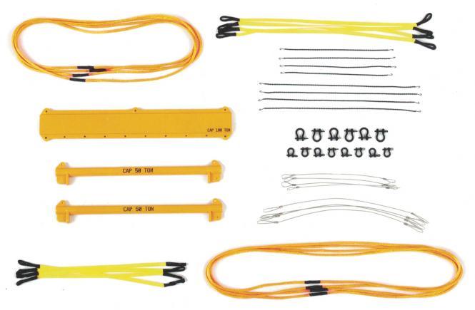 Hebeset breit 49 Teile, gelb RAL 1007