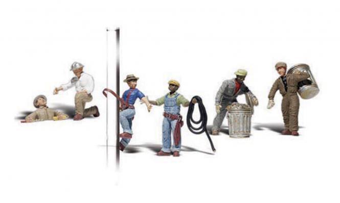 Stadtarbeiter mit Geräten