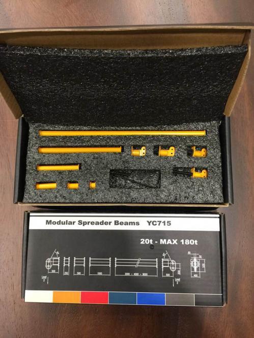Modulare Spreizbalken 20-180t, RAL 1007 gelb