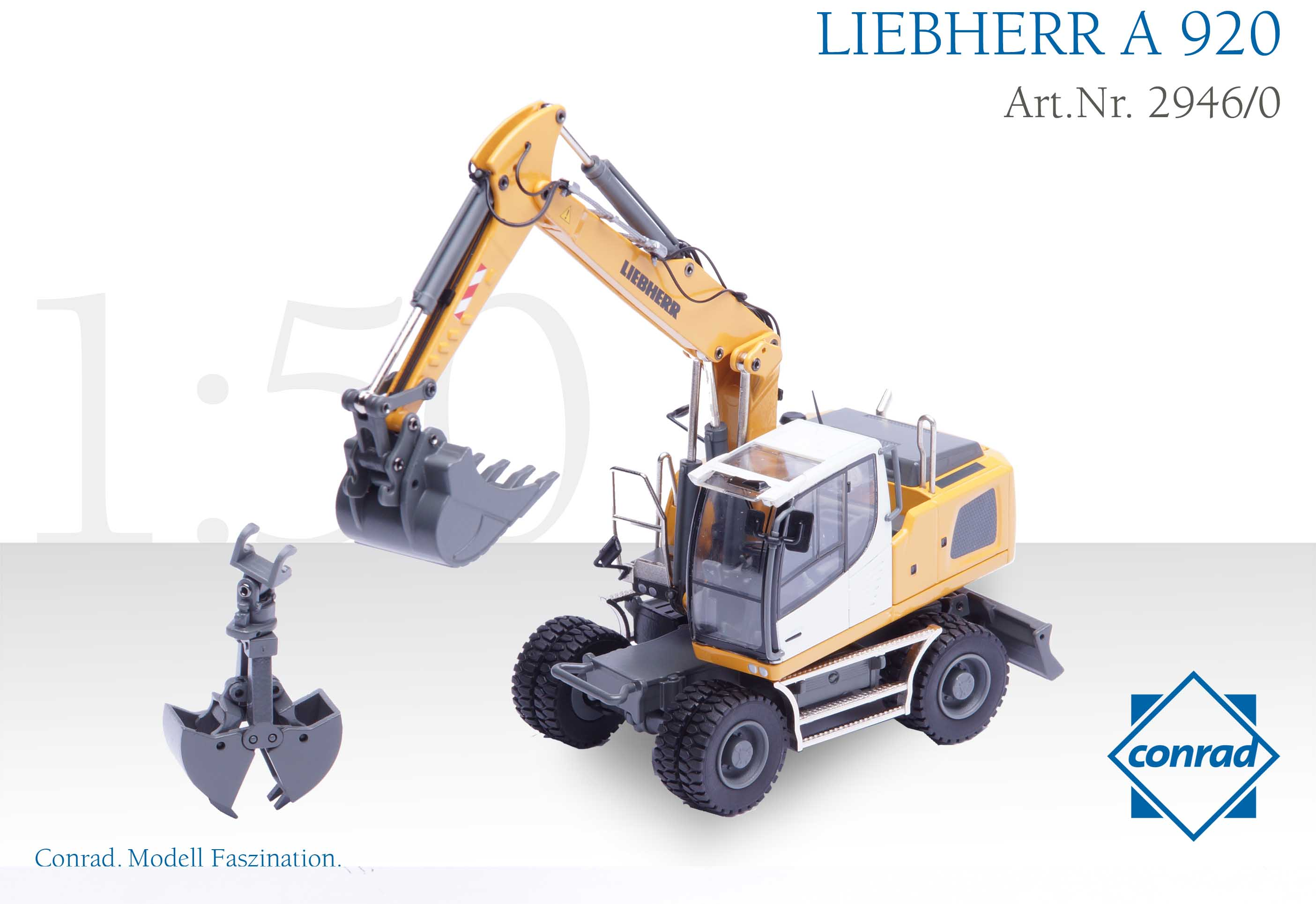 spiel modellkist 39 l shop liebherr mobilbagger a920 mit. Black Bedroom Furniture Sets. Home Design Ideas