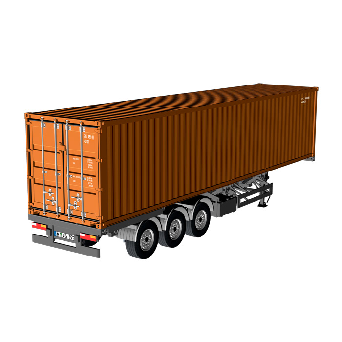 Semitrailer EU with 40feet Container  brown