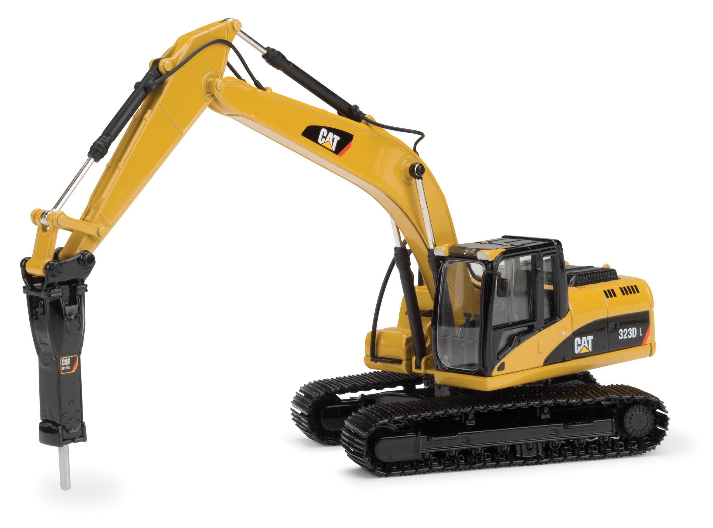spiel modellkist 39 l shop cat bagger 323d mit cat hammer h120e online kaufen. Black Bedroom Furniture Sets. Home Design Ideas